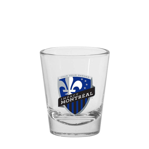 Montreal Impact MLS 1.5oz Round Shot Glass