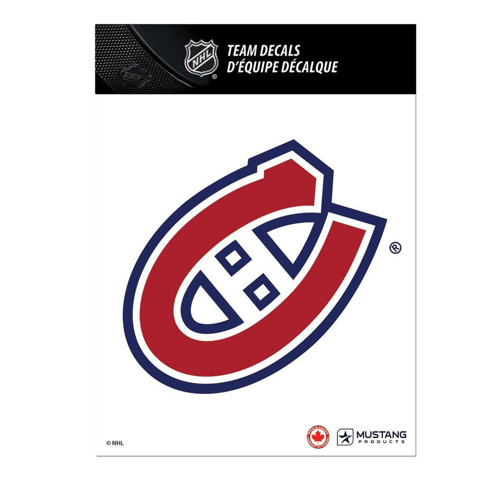 "Montreal Canadiens 5"" x 7"" Team Mini Decal Basic Logo"