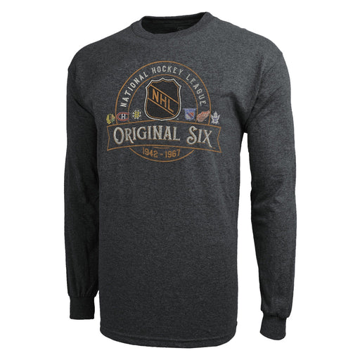 Original 6 47 NHL Grey Patrick Long Sleeve Shirt
