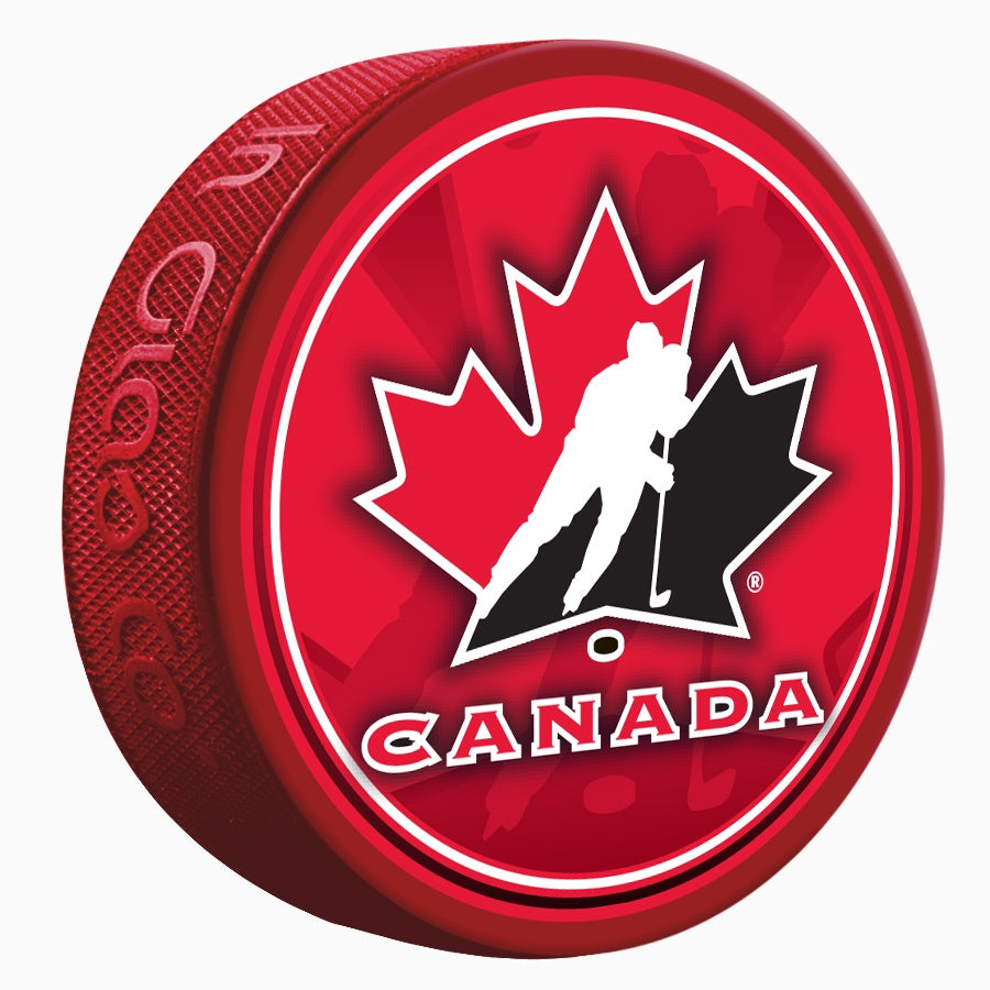 Team Canada Shadow Red Puck