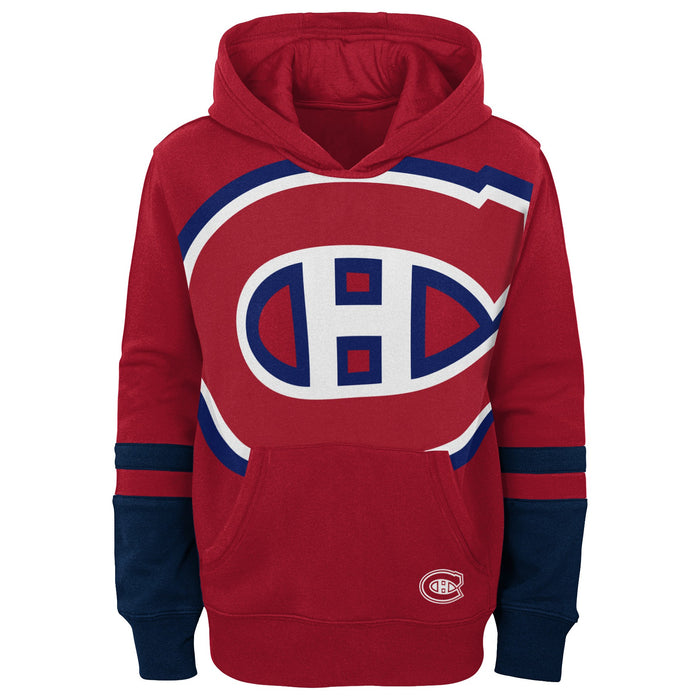 Montreal Canadiens Kids Red Pullover Fleece Hoodie