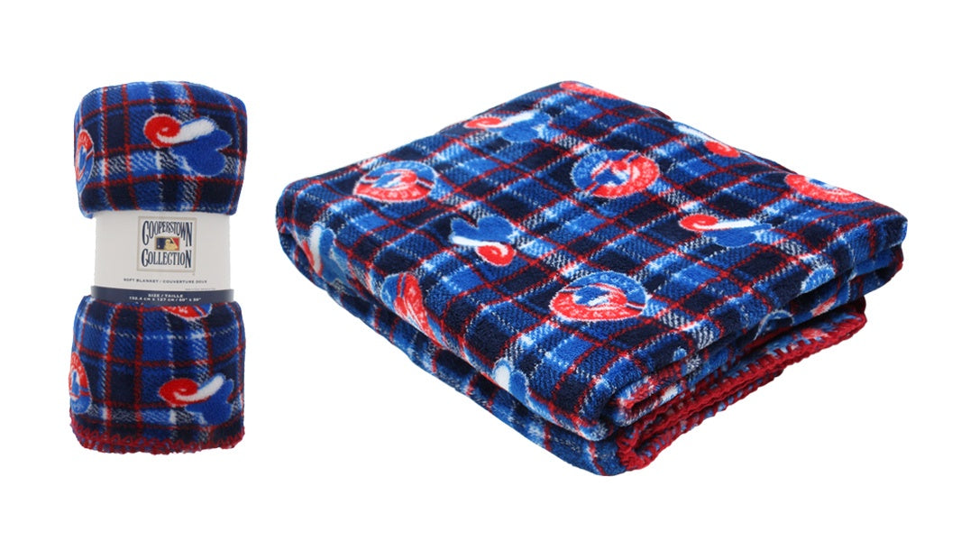 Montreal Expos MLB Travel Plaid Blanket
