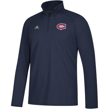 Montreal Canadiens Adidas Navy Left Defenseman 1/4 Zip Pullover