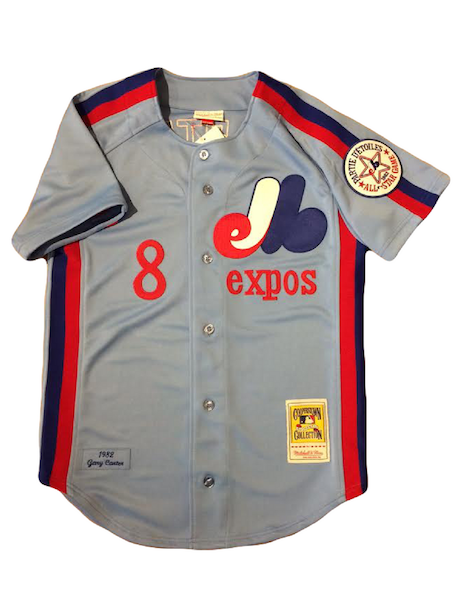 Gary Carter #8 Montreal Expos Mitchell & Ness 1982 Authentic Replica Jersey
