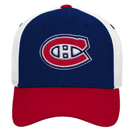 Montreal Canadiens Kids Colorblock Struct Adjustable Hat