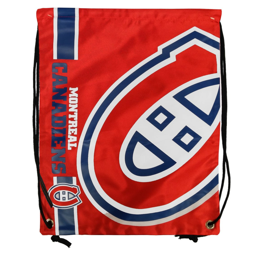 Montreal Canadiens Red Drawstring Big Logo Bag