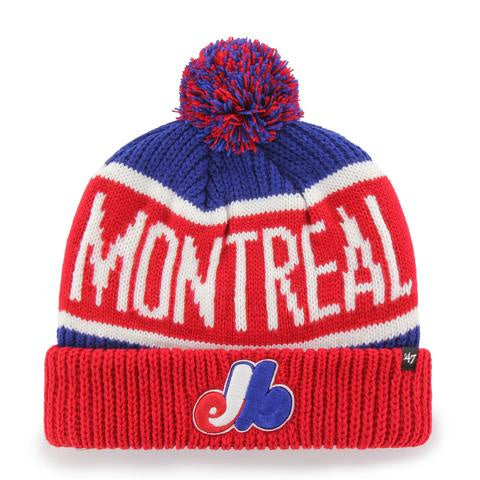 Montreal Expos 47 Red/Navy Calgary Cuff Knit Hat
