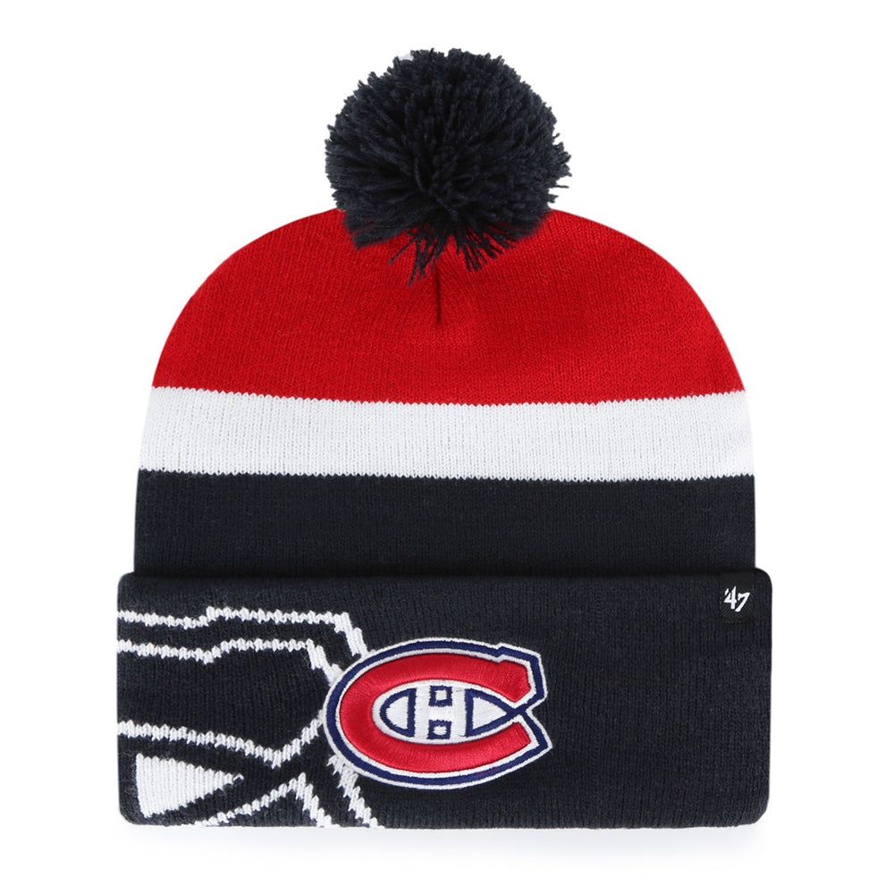 Montreal Canadiens '47 Tricolor Mokema Cuff Knit Hat