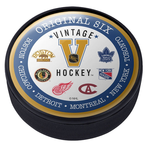 Original Six Domed Vintage Hockey Puck