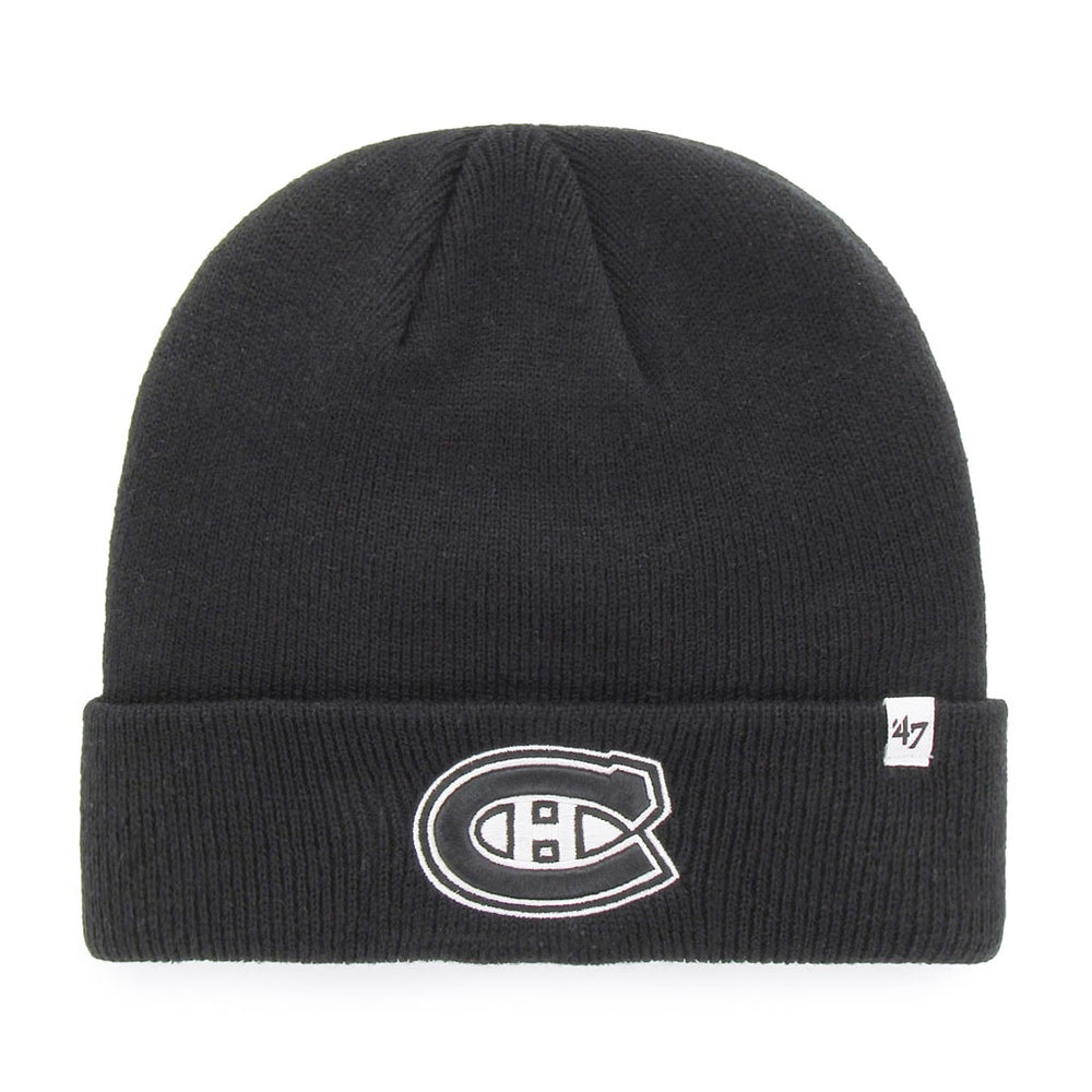 Montreal Canadiens 47 Black Raised Cuff Knit Toque