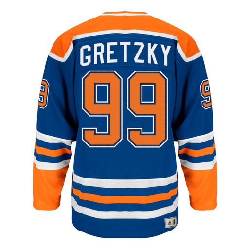 Wayne Gretzky Edmonton Oilers Adidas Heroes of Hockey Authentic Vintage Blue Jersey