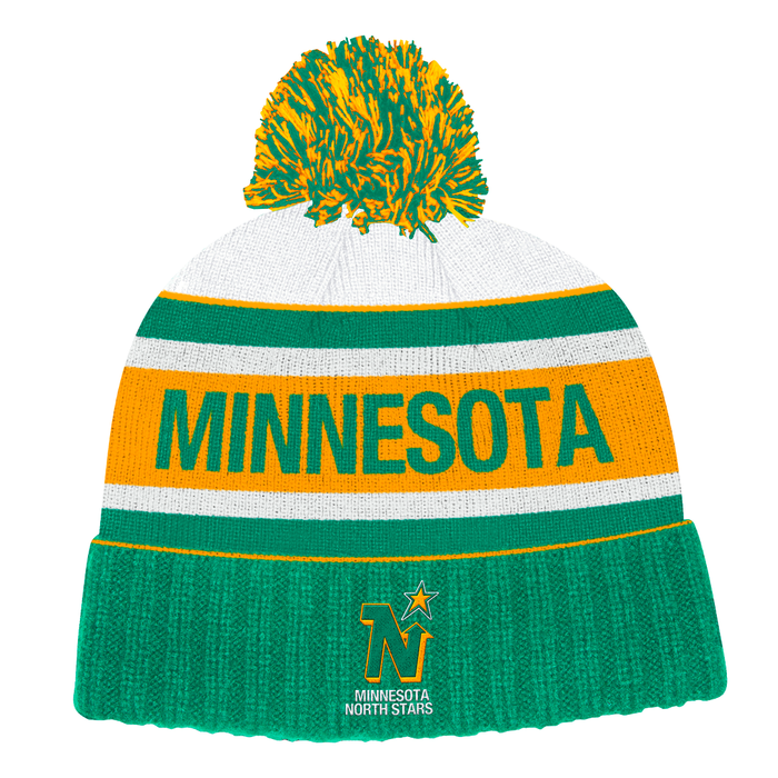 Minnesota North Stars Adidas Green Yellow  Cuffed Knit Hat