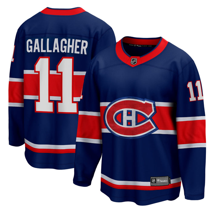 Brendan Gallagher Montreal Canadiens Fanatics Branded Blue 2020/21 Special Edition Breakaway Jersey