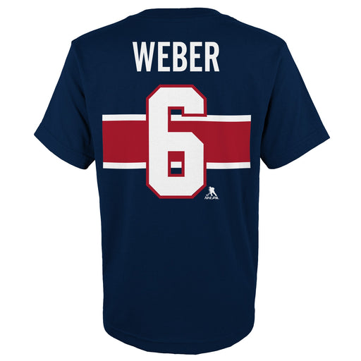 Shea Weber 6 Montreal Canadiens Youth Special Edition Blue T-shirt