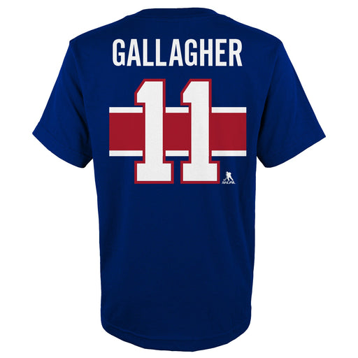 Brendan Gallagher 11 Montreal Canadiens Youth Special Edition Blue T-shirt