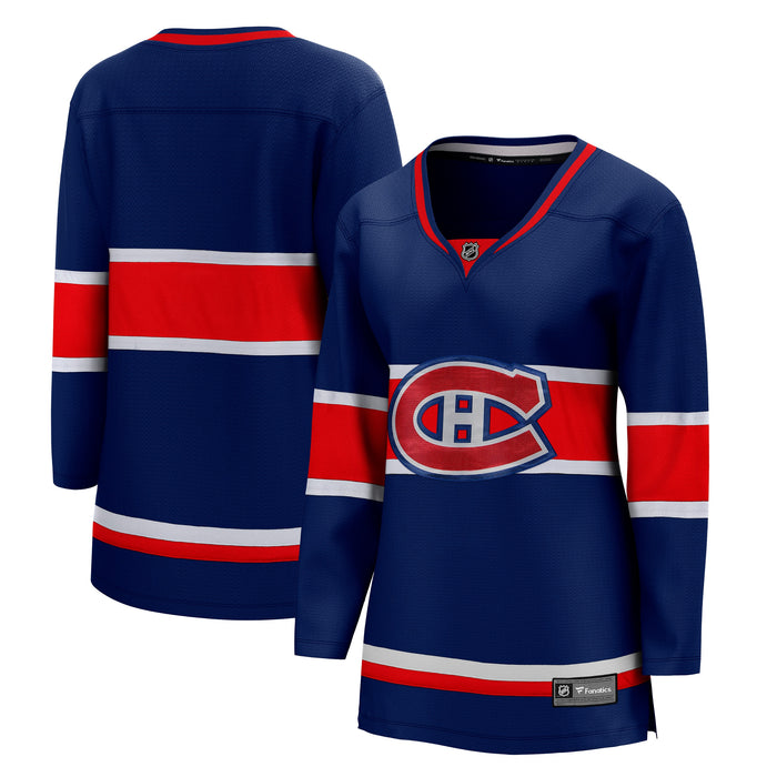 Montreal Canadiens Fanatics Branded Womens Blue 2020/21 Special Edition Breakaway Jersey