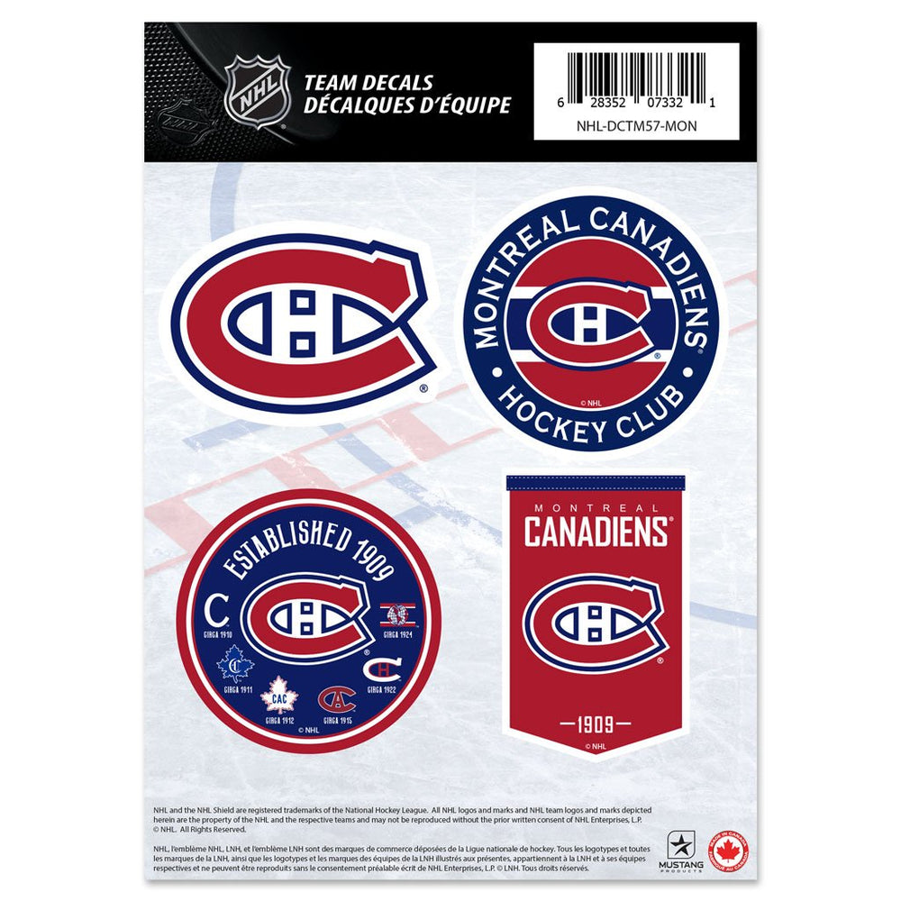 Montreal Canadiens Mini Team Logo Decal Set