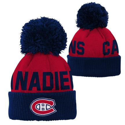 Montreal Canadiens Infant Jacquard Cuff Knit Pom