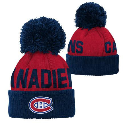 Montreal Canadiens Kids Red Jacquard  Cuff Pom