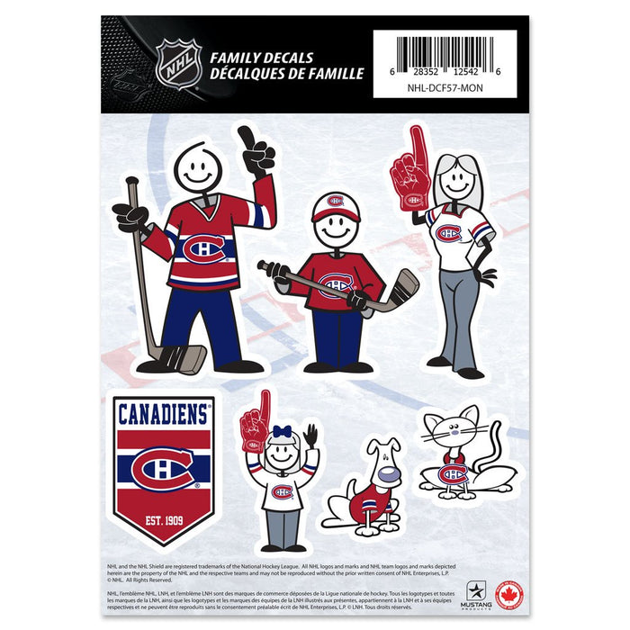 "Montreal Canadiens 5""x7"" Team Family Decal Set"