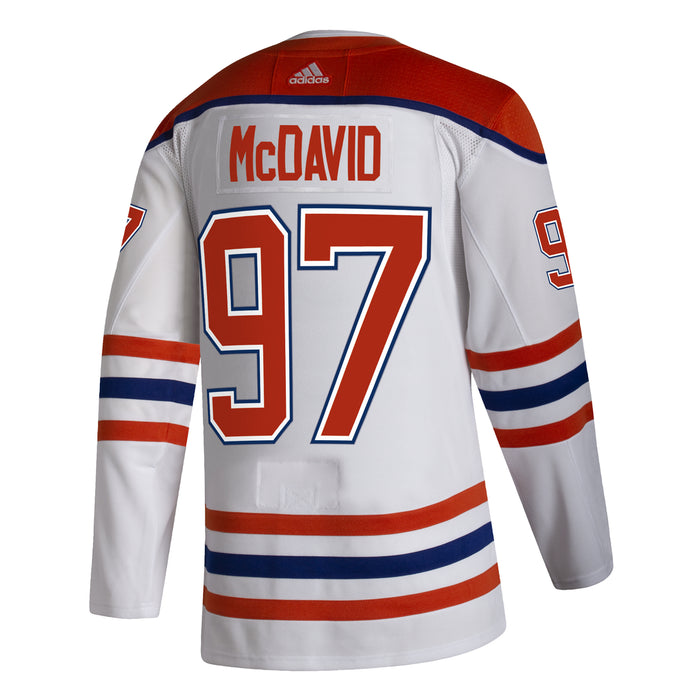 Connor McDavid Edmonton Oilers Adidas Reverse Retro Authentic Pro Jersey