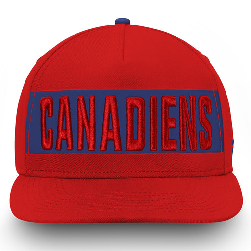Montreal Canadiens Fanatics Red Iconic Emblem Snapback Hat