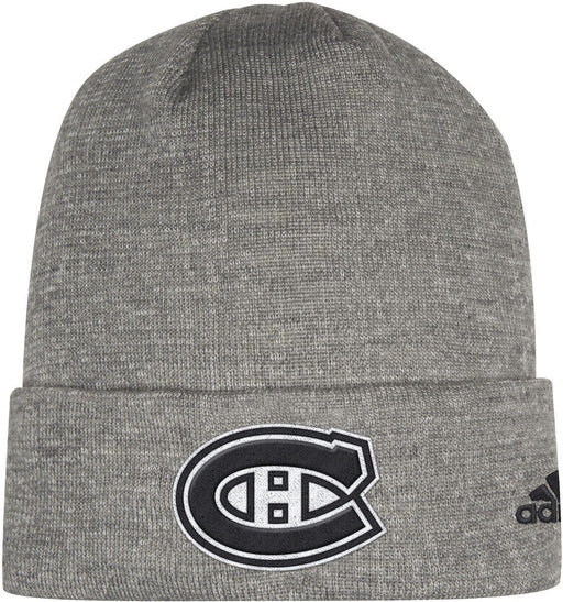 Montreal Canadiens Adidas Grey Cuffed Beanie Hat