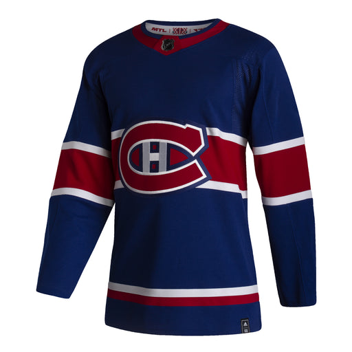 Montreal Canadiens Adult Pro Stitched Reverse Retro Authentic Blue Jersey Customization