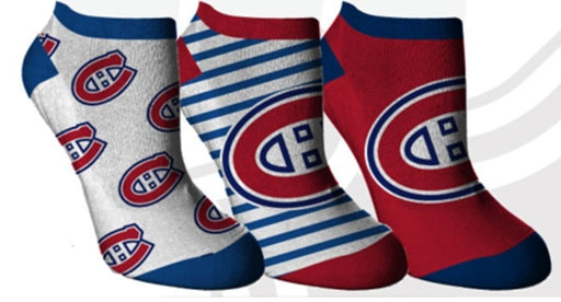 Montreal Canadiens Womens 3 Pack No Show Socks