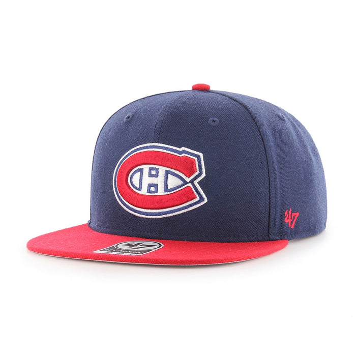 Montreal Canadiens 47 Navy Sure Shot 2-Tone Captain Adjustable Hat