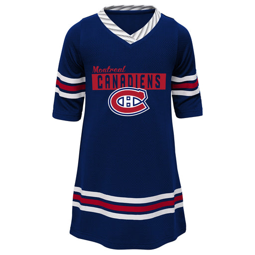 Montreal Canadiens Girls Navy Sassy Skater 1/2 Sleeve Tunic