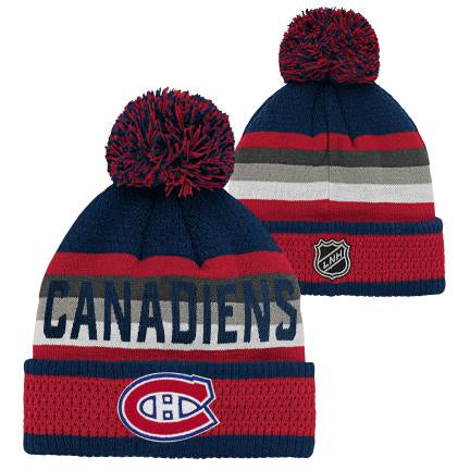 Montreal Canadiens Youth Jacquard Cuff Knit Pom