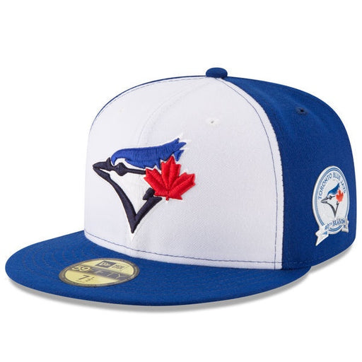 Toronto Blue Jays New Era 59Fifty White Blue 40th Anniversary Fitted Hat