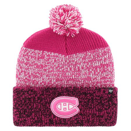 Montreal Canadiens '47 Pink Static Cuff Knit Hat
