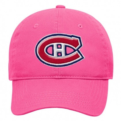 Montreal Canadiens Girls Pink Adjustable Slouch Hat