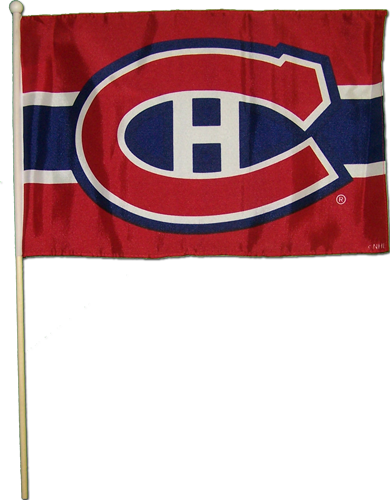 "Montreal Canadiens 12"" x 18"" Stick Flag"