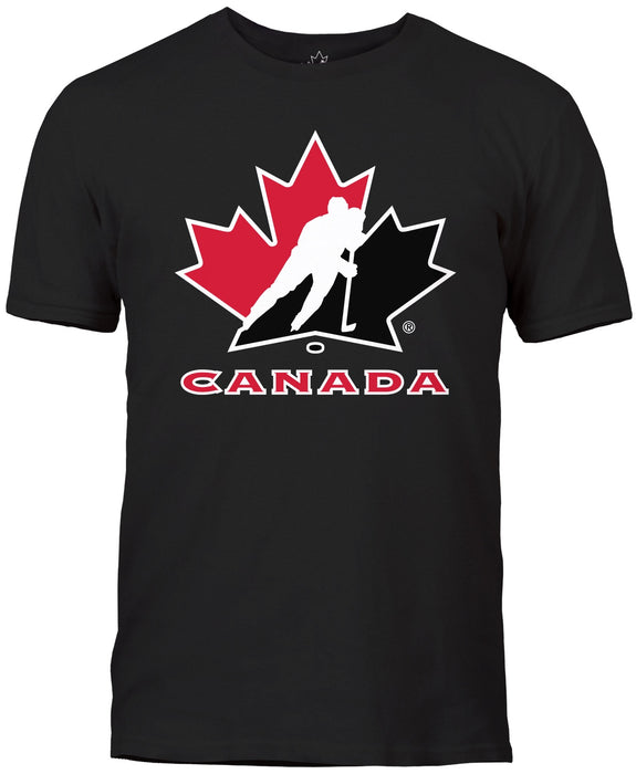 Team Canada Basic Logo Black T-shirt