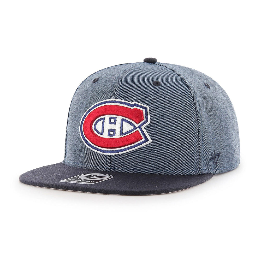 Montreal Canadiens 47 Brand Grey Double Move Captain Adjustable Hat