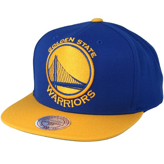 Golden State Warriors Mitchell & Ness Blue XL Logo Two Tone Adjustable Snapback