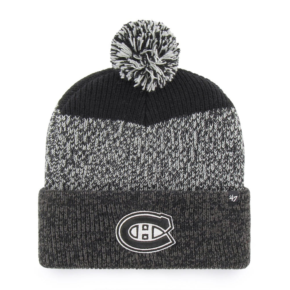 Montreal Canadiens '47 Black Static Cuff Knit Hat