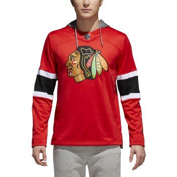 Chicago Blackhawks Adidas Red Jersey Pullover Hoodie