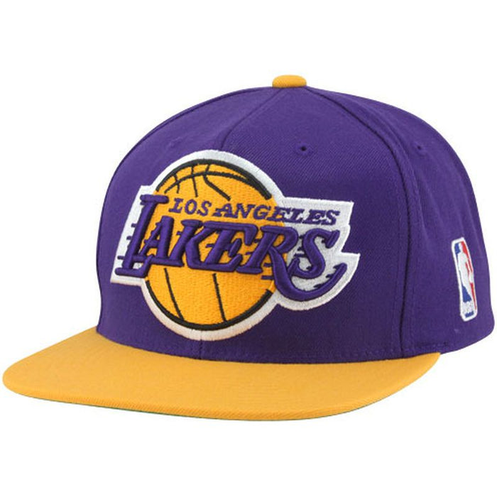 Los Angeles Lakers Mitchell & Ness Purple XL Logo Two Tone Adjustable Snapback