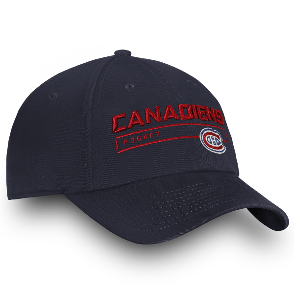 Montreal Canadiens Fanatics Navy Pro Rinkside Adjustable Hat