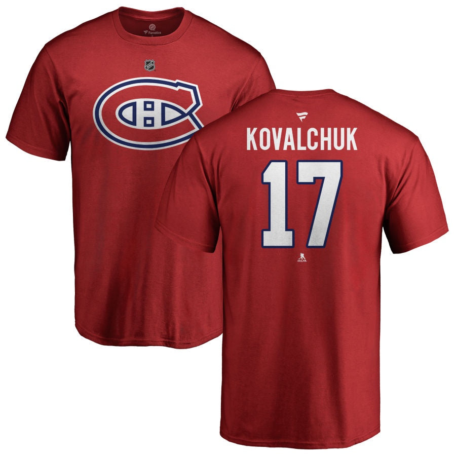 Ilya Kovalchuk Montreal Canadiens Fanatics Red T-Shirt