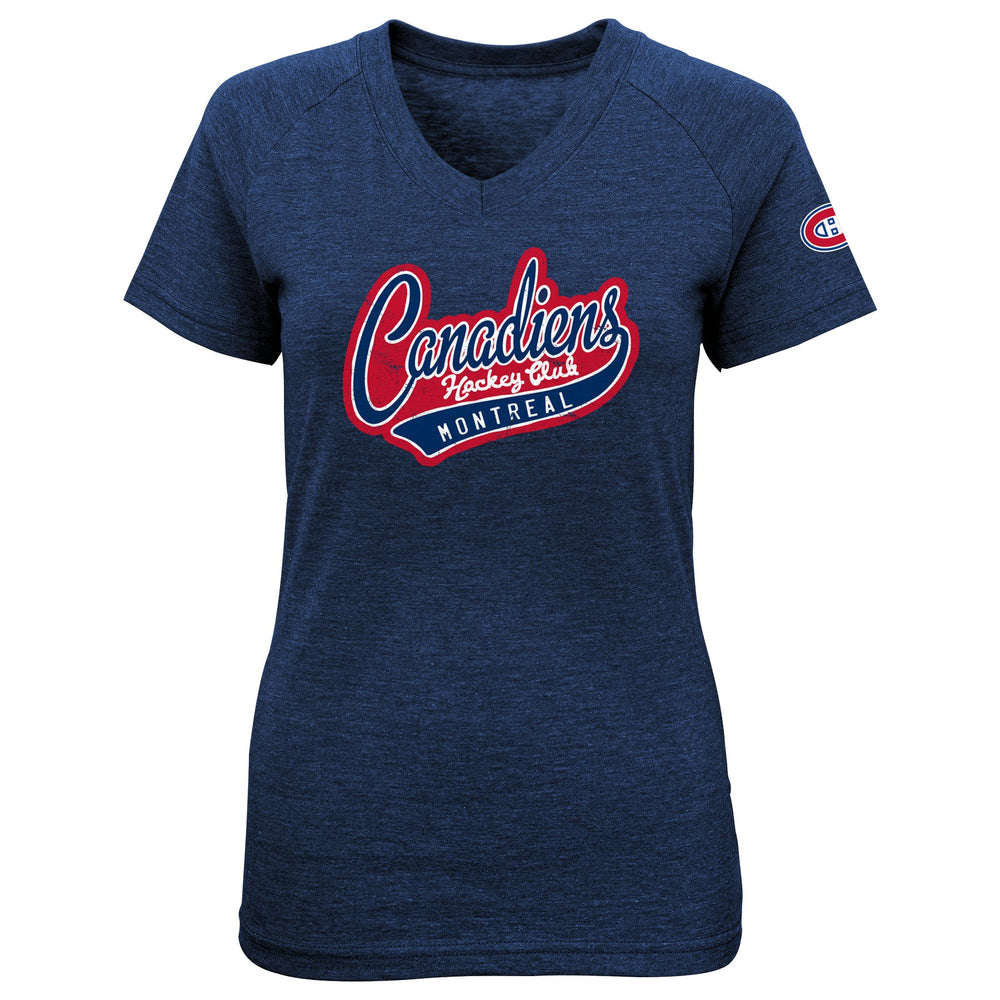 Montreal Canadiens Girls Fan Fare V Neck Shirt