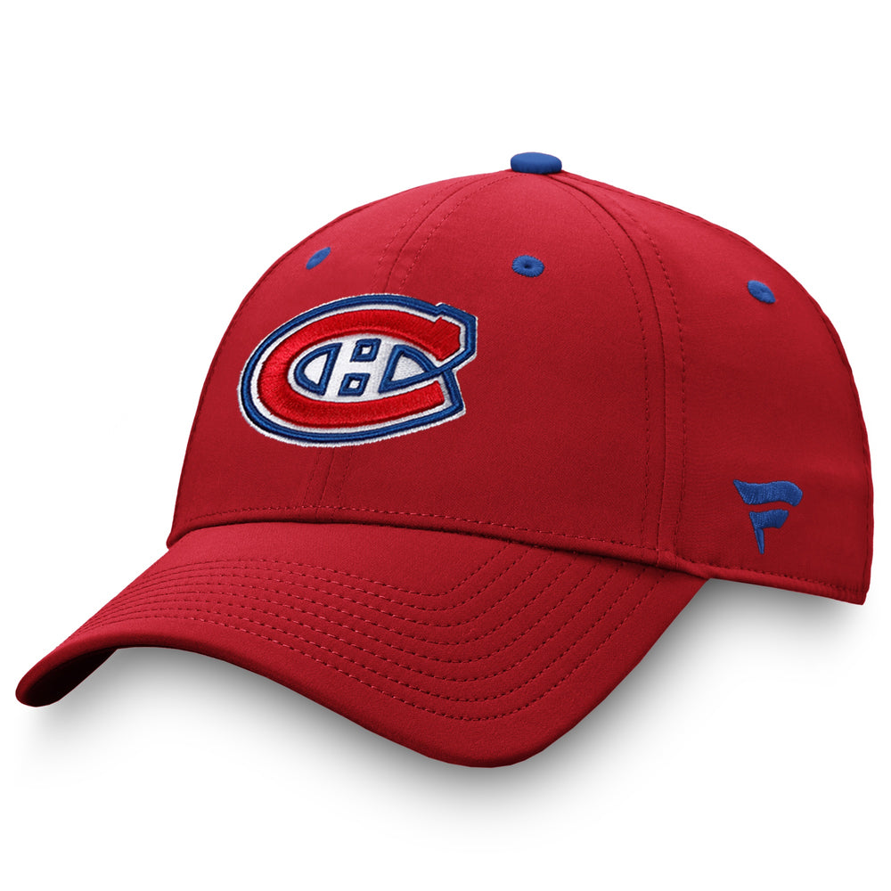 Montreal Canadiens Fanatics Red Authentic Pro Adjustable Hat