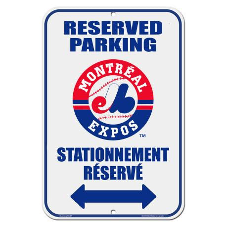 "Montreal Expos 10"" x 15"" Reserved Parking Sign"