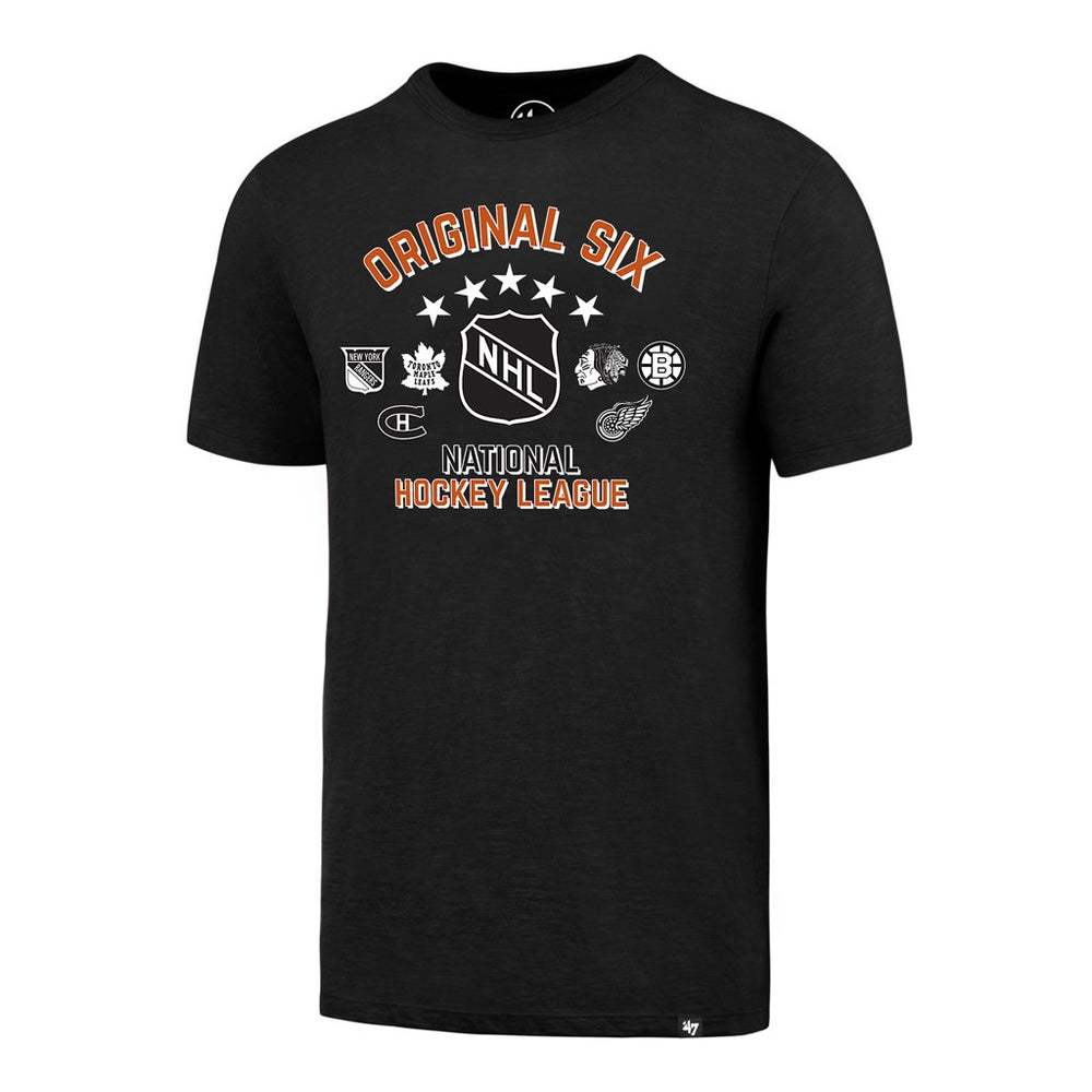 Original Six 47 Black Scrum T-Shirt