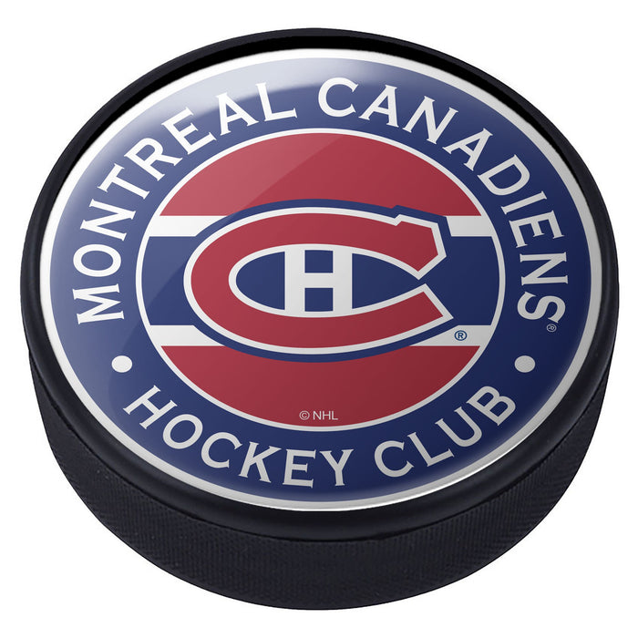 Montreal Canadiens Striped Domed Puck