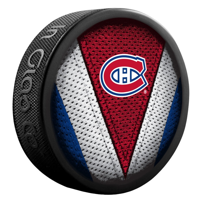 Montreal Canadiens Stitch Souvenir Puck NHL
